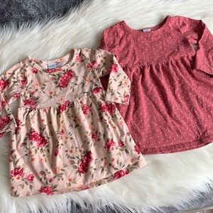 2 old navy tunic tops/dresses 6-12 months